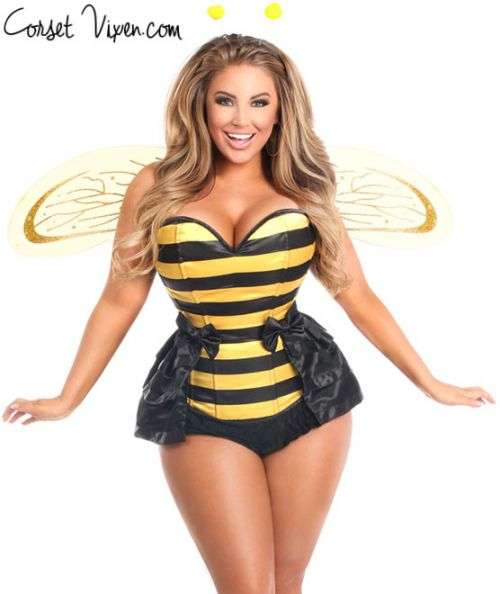 5 PC Queen Bee Corset Costume