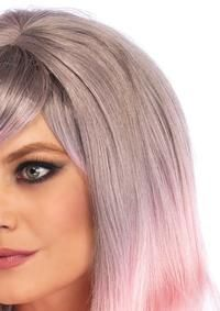 BLENDED TWO-TONE PASTEL LONG WAVY WIG