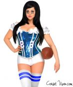 Blue Sexy Football Corset Costume