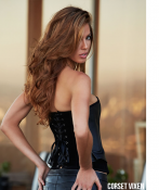Fashion Suede and Leather Black Corset