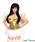 Gold Glitter Angel Corset Costume