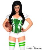 Green Sexy Football Corset Costume