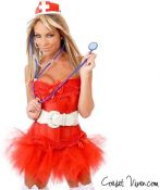 Naughty Nurse Corset Costume