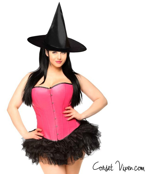 Pin-up Pink Witch Corset Costume