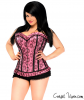 Pink Lace Steel Boned Corset