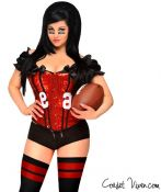 Red Sexy Football Corset Costume