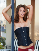 Seductive Black Satin & Lace Corset