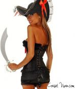 Sexy Black Pirate Corset Costume