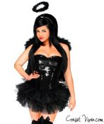 Sexy Dark Angel Corset Costume