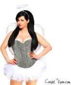 Silver Angel Corset Costume