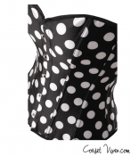 Strapless Black And White Polka Dot Corset