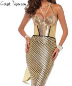 Adult Golden Glitter Mermaid Costume