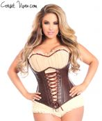 Faux Leather Steel Boned Corset