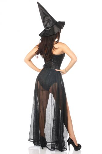 Lavish 3 PC Evil Witch Corset Costume