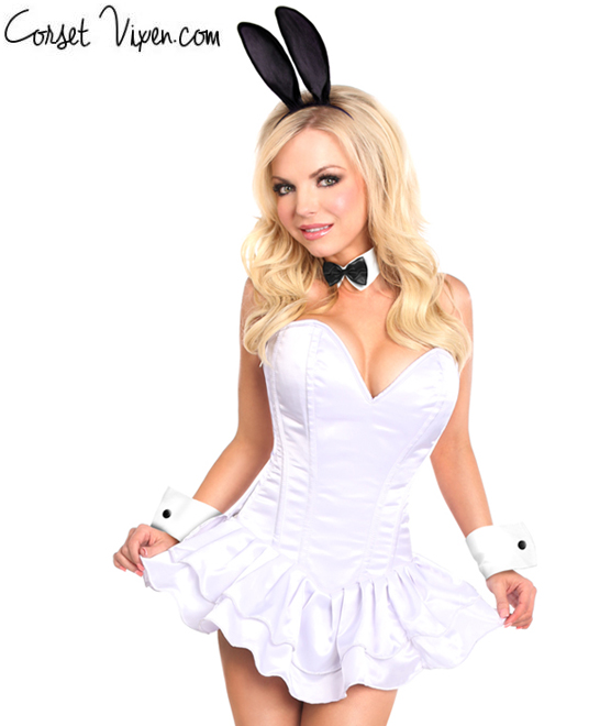 Playboy Bunny Corset Dress Costume