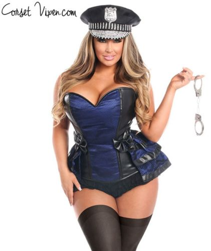 Police Officer Corset Costume