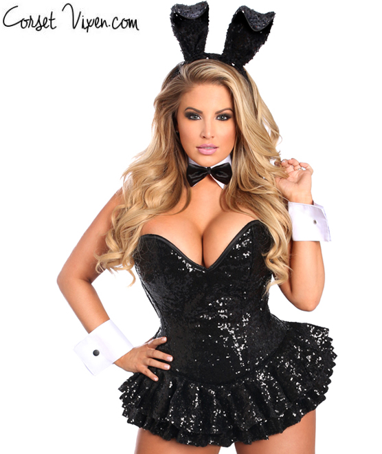 Premium Bunny Corset Dress Costume