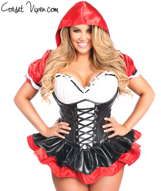 Red Riding Hood Corset Dress Costume