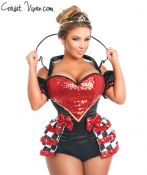 Royal Red Queen Corset Costume