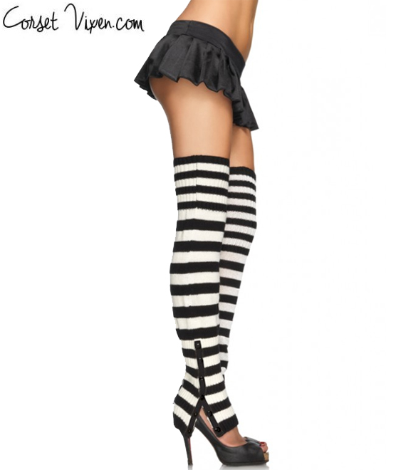 Striped  Extra Long Leg Warmers