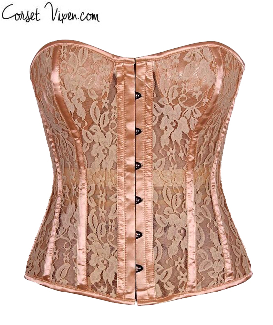 Tan Lace Molded Cup Corset