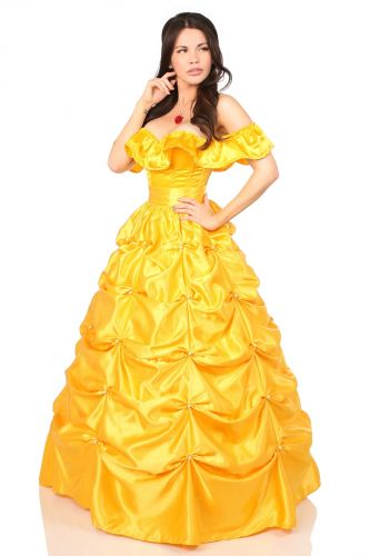Top Drawer Belle 3 PC Fairytale Beauty Corset Costume