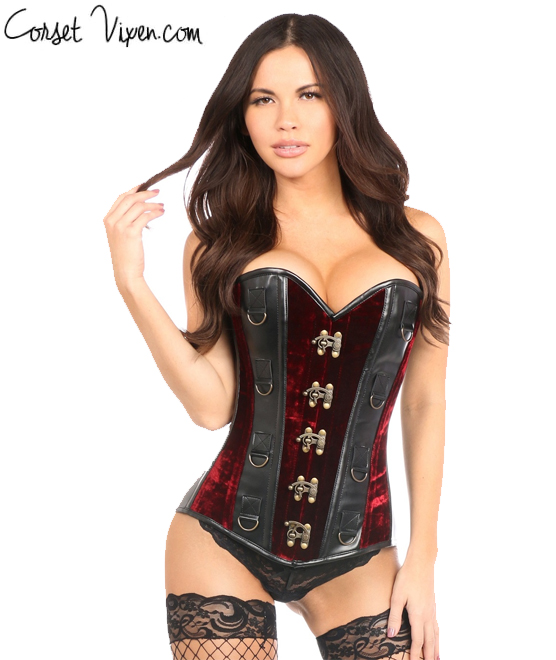 2000b275630 top-drawer-red-velvet-faux-leather-steel-boned-corset.jpg
