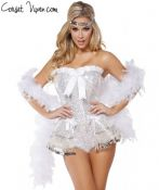 White Flirty Flapper Costume