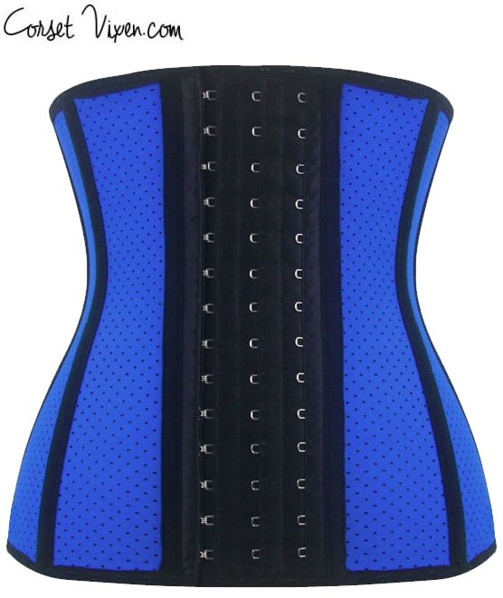 Latex Shaper Waist Training Corset (Color: Blue)