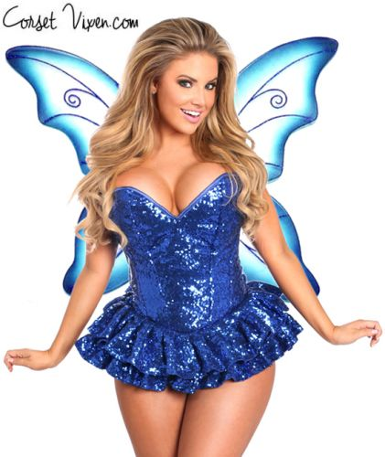 Sequin Fairy Corset Costume (Color: PGBP: Blue)