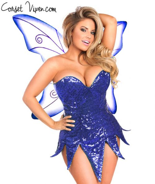 Sexy Sequin Fairy Corset Dress Costume (Color: BPPG: Blue)