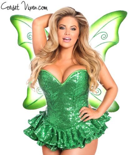 Sequin Fairy Corset Costume (Color: PGBP: Green)
