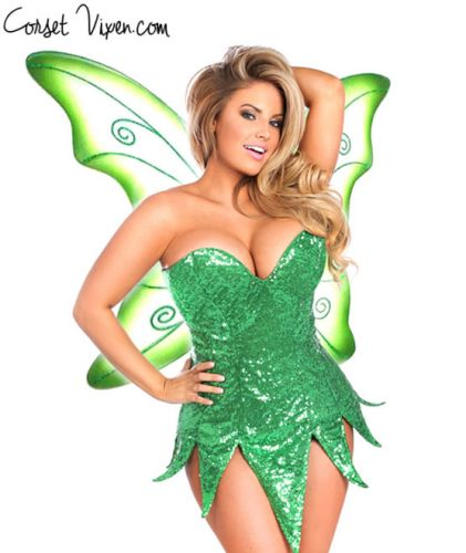Sexy Sequin Fairy Corset Dress Costume (Color: BPPG: Green)