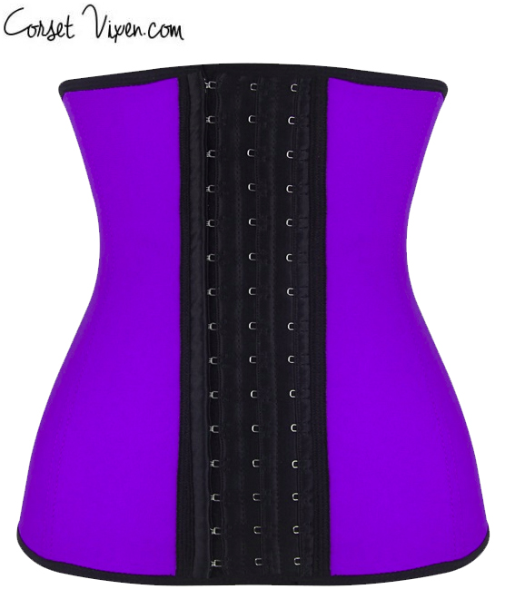 Latex Body Shaper (Color: B B P P O: Purple)