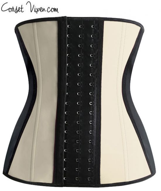Latex Waist Training Corset (Color: PTP: Tan)