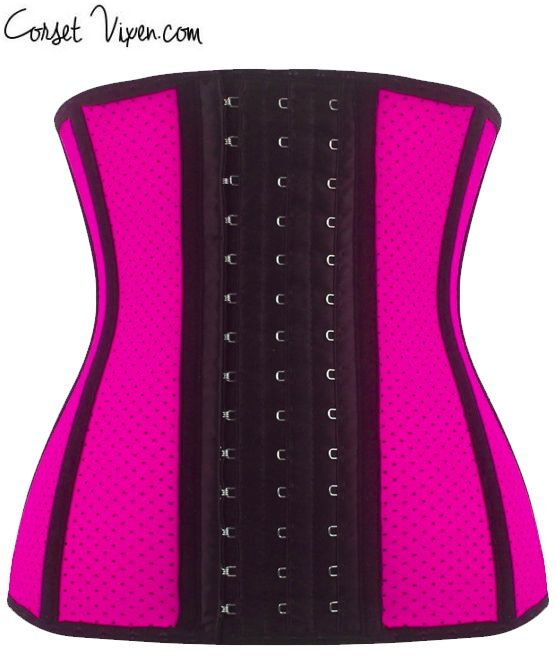 Latex Shaper Waist Training Corset (Color: Pink)