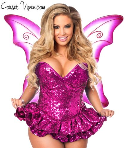 Sequin Fairy Corset Costume (Color: PGBP: Pink)