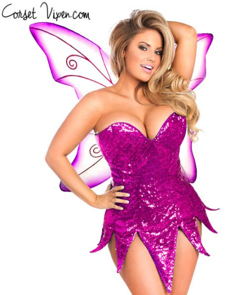 Sexy Sequin Fairy Corset Dress Costume (Color: BPPG: Pink)
