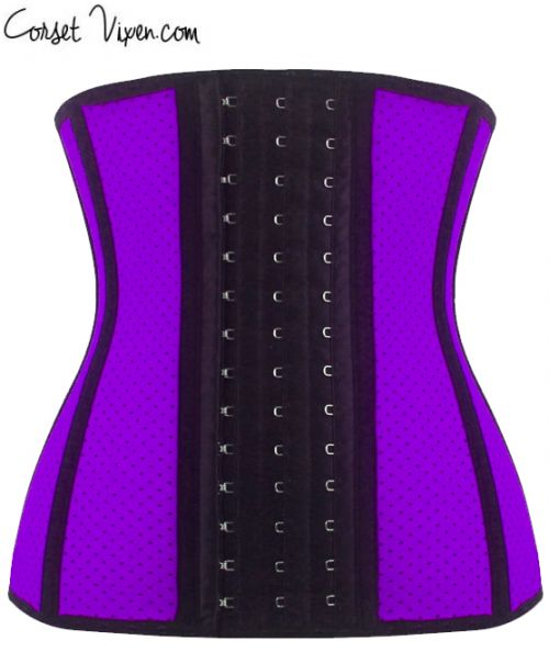 Latex Shaper Waist Training Corset (Color: Purple)