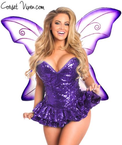 Sequin Fairy Corset Costume (Color: PGBP: Purple)