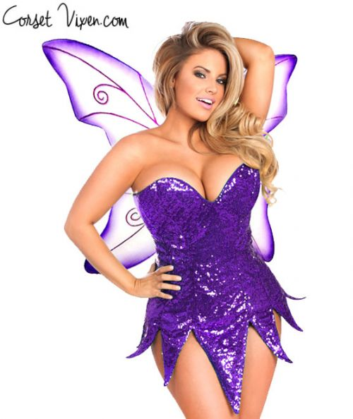 Sexy Sequin Fairy Corset Dress Costume (Color: BPPG: Purple)